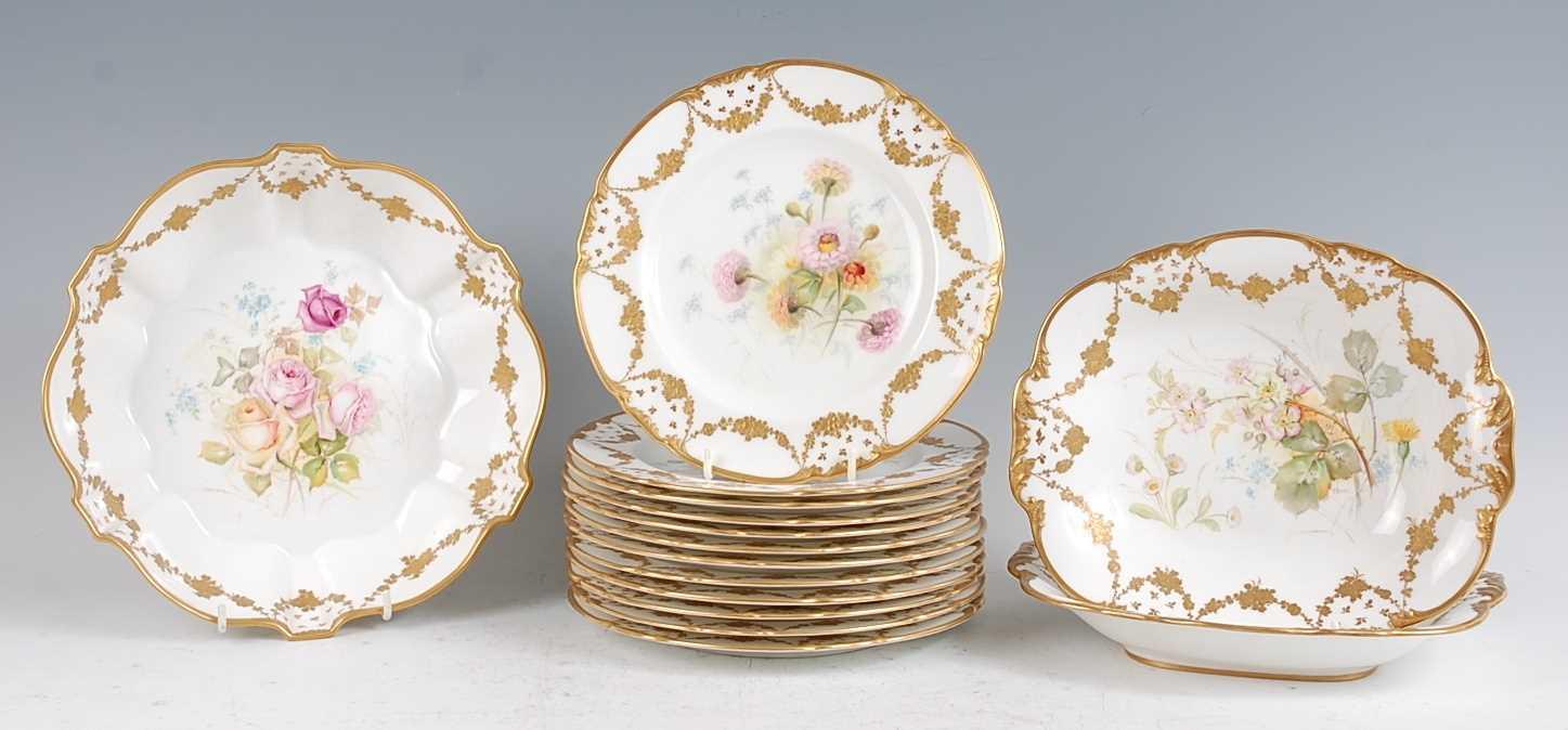 Lot 1024-A Royal Crown Derby porcelain twelve place...