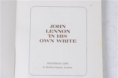 Lot 2019-John Lennon, In His Own Write, Jonathan Cape 30...