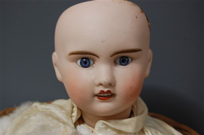 Lot 2003-A LeConte of France bisque head doll, having...