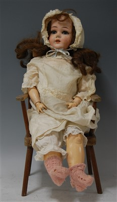 Lot 2004-A Limbach Porzellan Fabrik bisque head doll,...