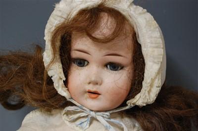 Lot 2004-A Limbach Porzellan Fabrik bisque head doll,...
