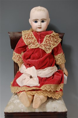 Lot 2007-An Etienne Denamur Bébé No.9 bisque head doll,...