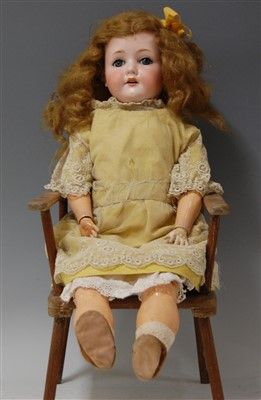 Lot 2008-A CM Bergmann Waltershausen bisque head doll,...
