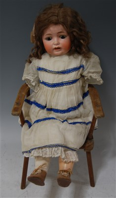 Lot 2009-A Yohann Daniel Kestner German bisque head doll,...