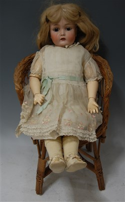 Lot 2010-A Catterfelder Puppenfabrik bisque head doll,...