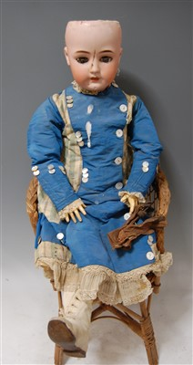 Lot 2011-A large Simon & Halbig German bisque head doll,...