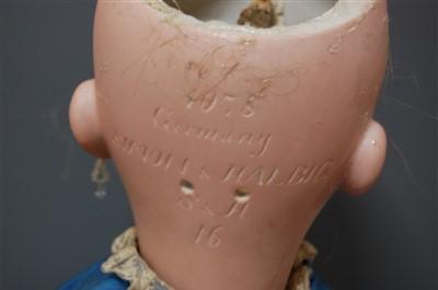 Lot 2011-A large Simon & Halbig German bisque head doll,...