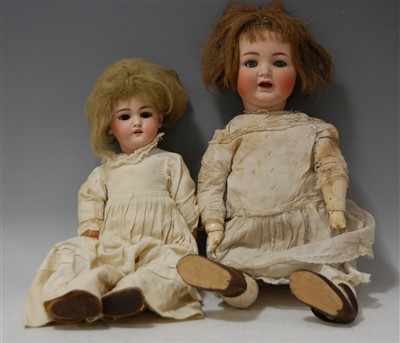 Lot 2012-A Simon & Halbig German bisque head doll, having...