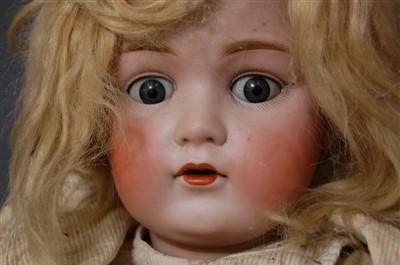 Lot 2013-A Christian Friedrich Kling bisque head doll,...