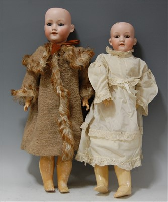 Lot 2015-An Armand Marseille bisque head doll, having...