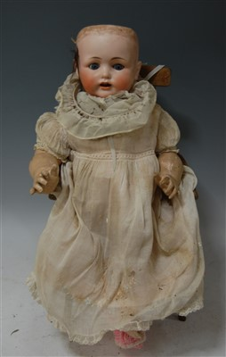 Lot 2017-A Max Handwercke Bébé Elite bisque head doll,...