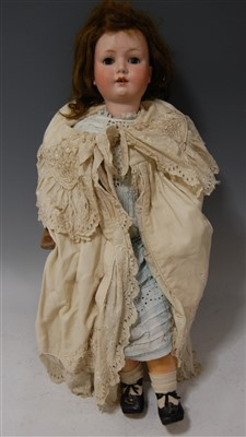 Lot 2018-A Max Oscar Arnold Welsch bisque head doll,...