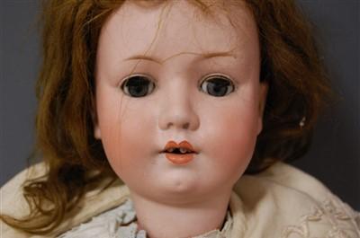 Lot 2018-A Max Oscar Arnold Welsch bisque head doll,...