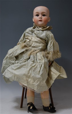 Lot 2019-A Gebruder Heubach bisque head doll, having...