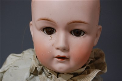 Lot 2019-A Gebruder Heubach bisque head doll, having...