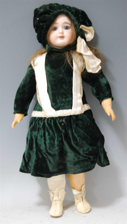 Lot 2021-A French Eden Bébé Paris No.9 bisque head doll,...