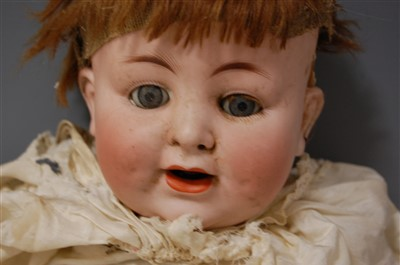 Lot 2022-An Alt Beck & Gottschalck bisque head doll,...