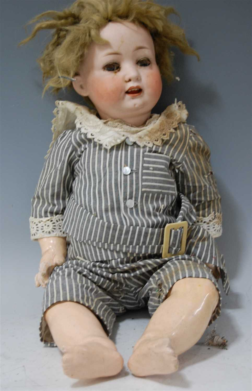 Lot 2023-A Heubach Köppelsdorf bisque head doll, having...