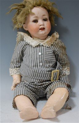Lot 2023-A Heubach Köppelsdorf bisque head doll, having...