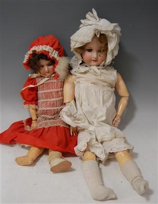 Lot 2027-An Armand Marseille bisque head doll, having...