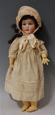 Lot 2028-A Simon & Halbig German bisque head doll, having...