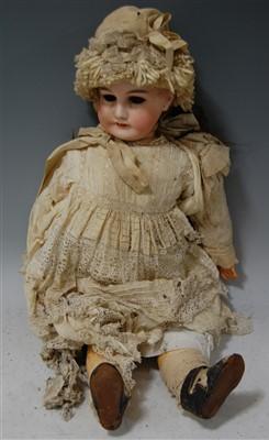 Lot 2031-A Gebruder Kuhnlenz bisque head doll, having...