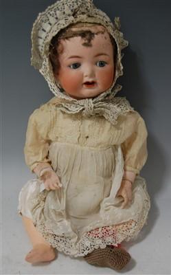 Lot 2032-A Cuno & Otto Dressel bisque head doll, having...