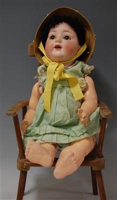 Lot 2033-A Porzellan Fabrik Burggrub bisque head doll,...