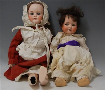 Lot 2034-A Heubach & Köppelsdorf bisque head doll, having...