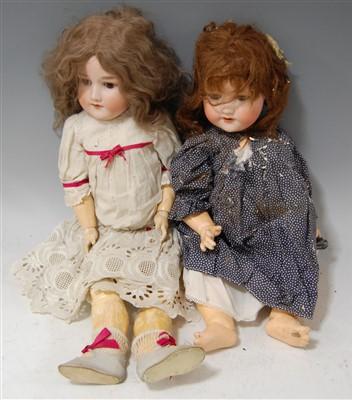 Lot 2036-An Armand Marseille bisque head doll, having...