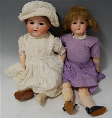 Lot 2042-An Armand Marseille bisque head doll, having...