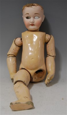 Lot 2043-A Jumeau jointed composition dolls body, lacking...