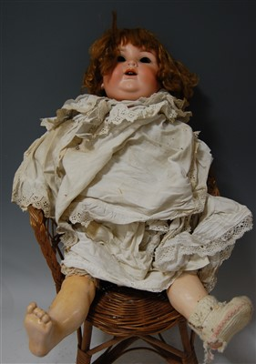 Lot 2046-An Armand Marseilled bisque head doll, lacking...