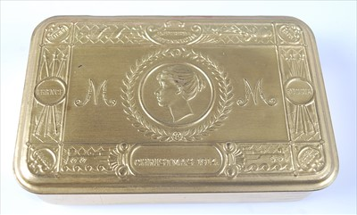 Lot 12-A WW I Princess Mary Christmas gift tin and...