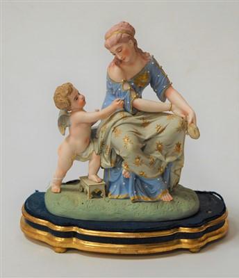 Lot 3-A Darras bisque porcelain figure group,...
