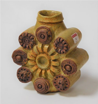 Lot 6-A Bernard Rooke stoneware vase 20cm