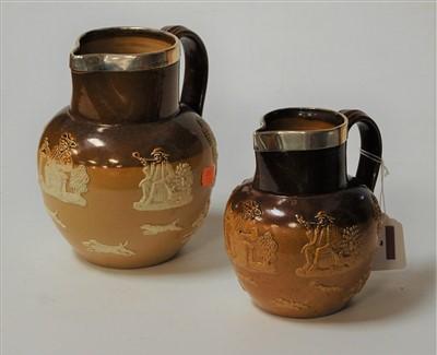 Lot 7-A Doulton Lambeth salt glazed stoneware harvest...