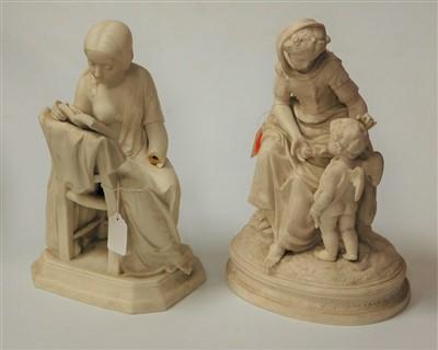 Lot 13-A Victorian parian figure group depicting a...