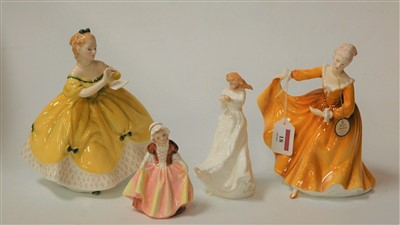 Lot 18-A Royal Doulton figurine Kirsty HN2381, and three ...