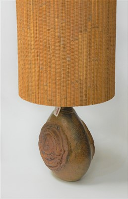 Lot 22-A Bernard Rooke stoneware table lamp with...