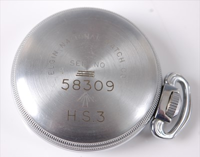 Lot 15-An Elgin military issue base metal cased...