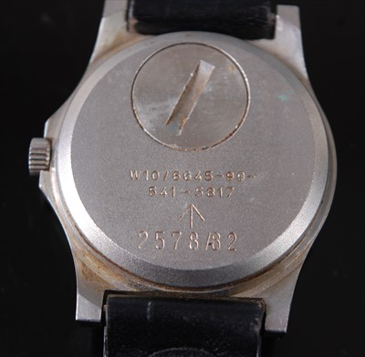 Lot 6-A gentleman's CWC (Cabot Watch Company) military...