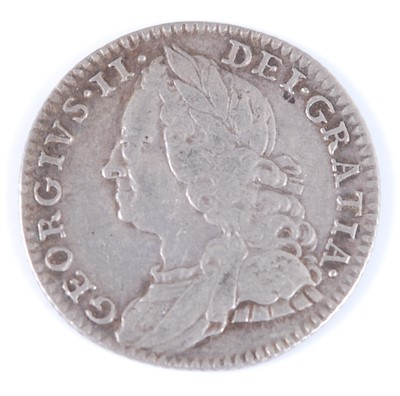 Lot 2019-Great Britain, 1758 sixpence