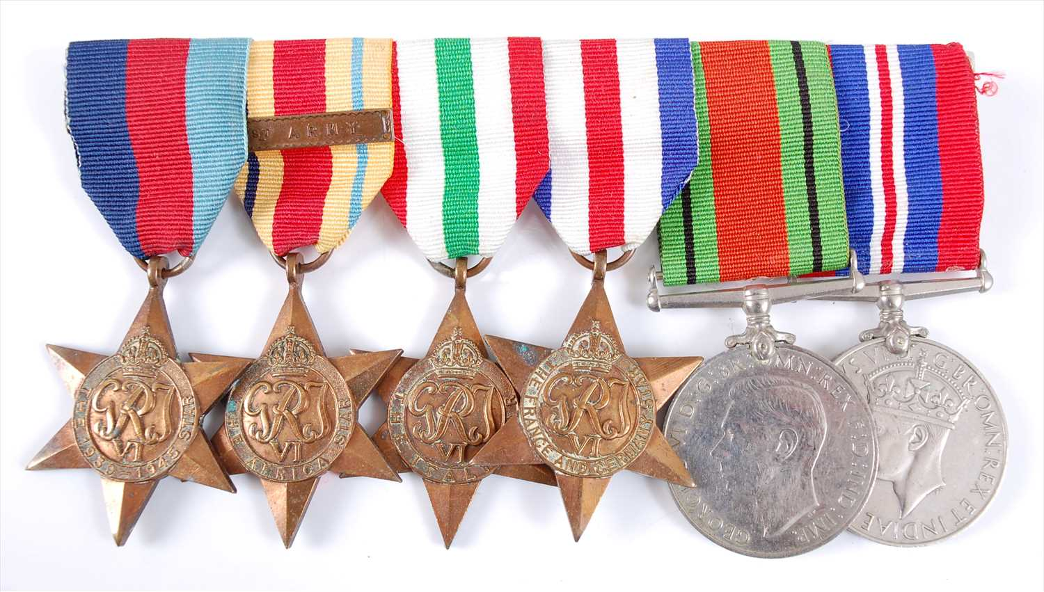Lot 22-A WW II group of six to include
