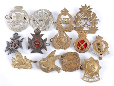 Lot 41-A collection of mainly Commonwealth cap badges and insignia to include