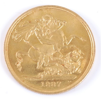 Lot 2192 - Great Britain, 1887 gold two pound coin