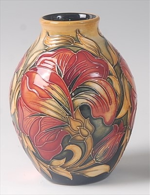Lot 2-A modern Moorcroft pottery vase in the Spanish...