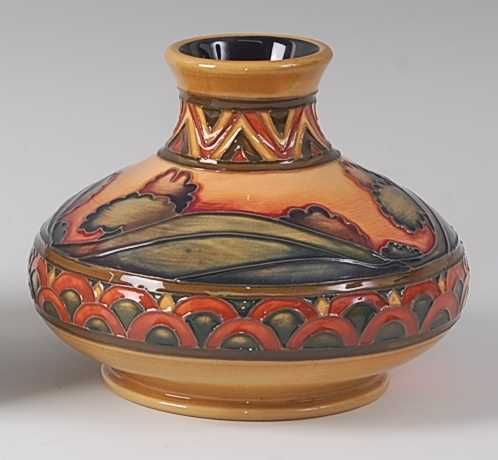 Lot 4-A modern Moorcroft pottery vase in the Second...