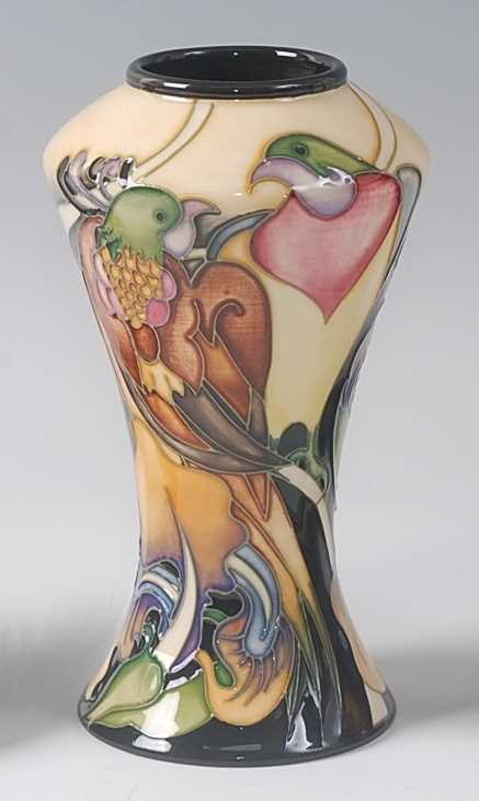 Lot 6-A modern Moorcroft pottery vase, decorated...