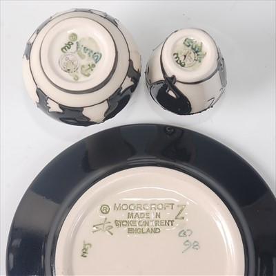 Lot 9-A modern Moorcroft pottery circular pin tray in...